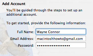 Enter your Gmail settings into Apple mail