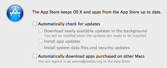 Turn off all Software Updates